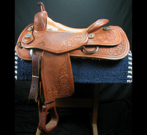 Used Avila Cowhorse saddle, one of several available, contact Joel for more info.