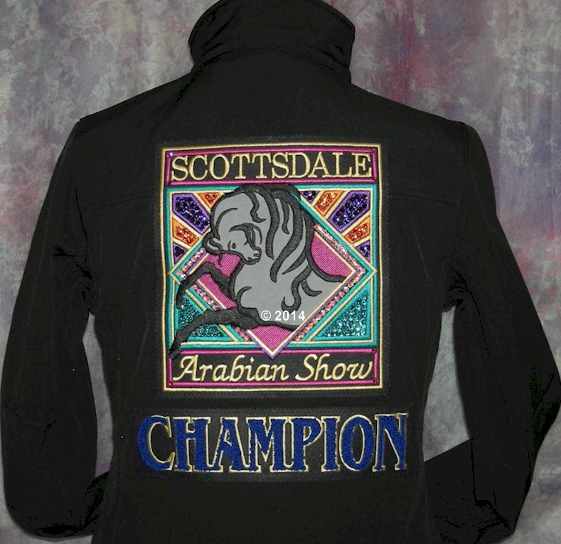 "Scottsdale ""UnOfficial"" Championship Jackets  Customize your jacket with: your name, your horse, the class!"