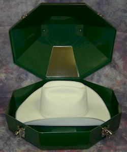 "The Hat Lady says; ""Keep your Show Hat ready for the Ring"" with one of these sturdy hat boxes!"