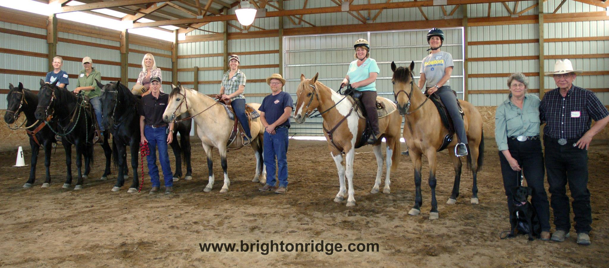 Wonderful group of people and horses at this clinic in Spokane at Lady Raven Stables..