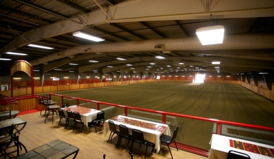 The indoor arena offers a variety of events from Knights jousting to a fabulous clinic setting.