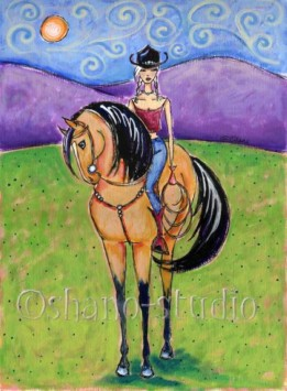 """Lone Cowgirl"""