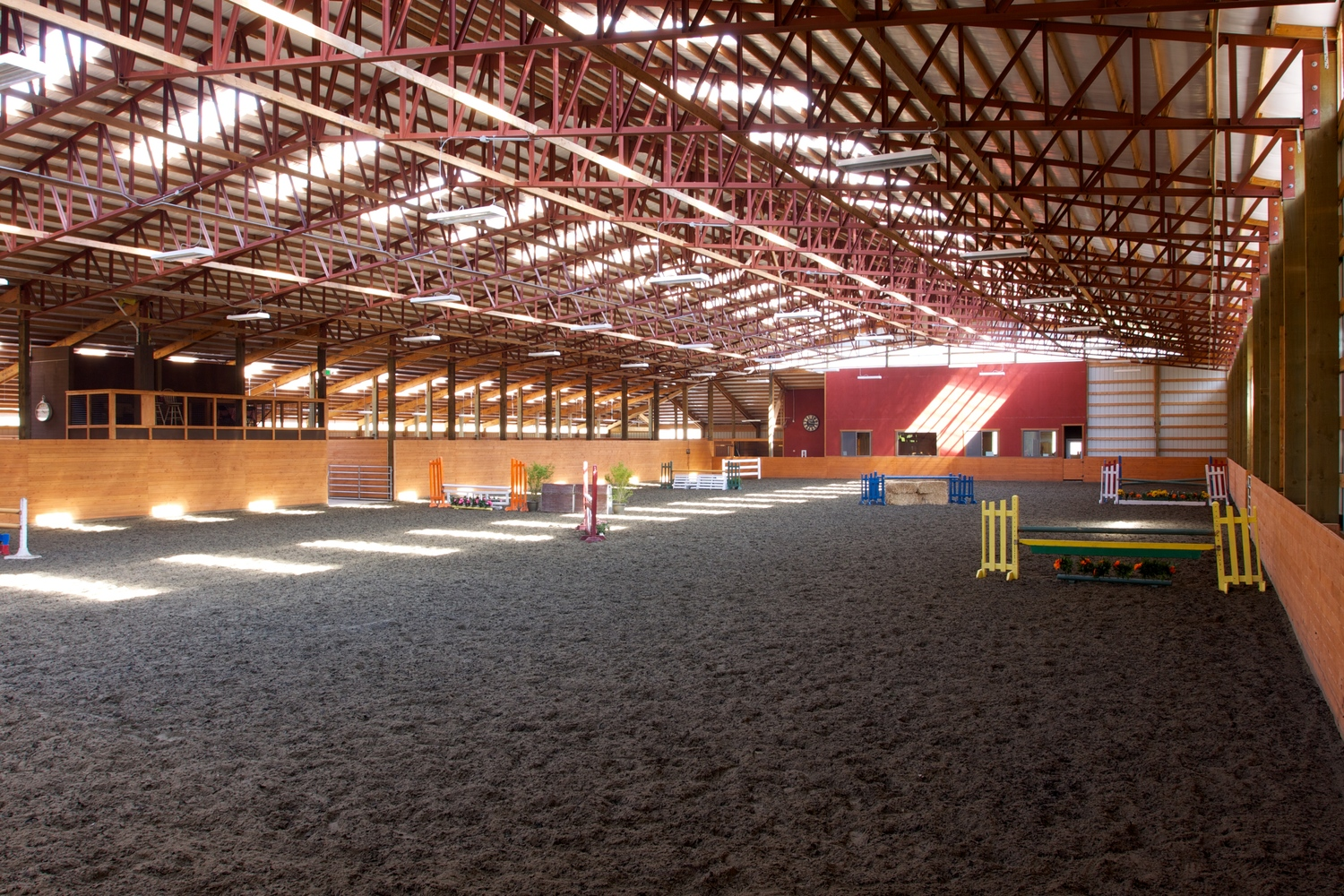 100′ by 200′ fully enclosed indoor arena