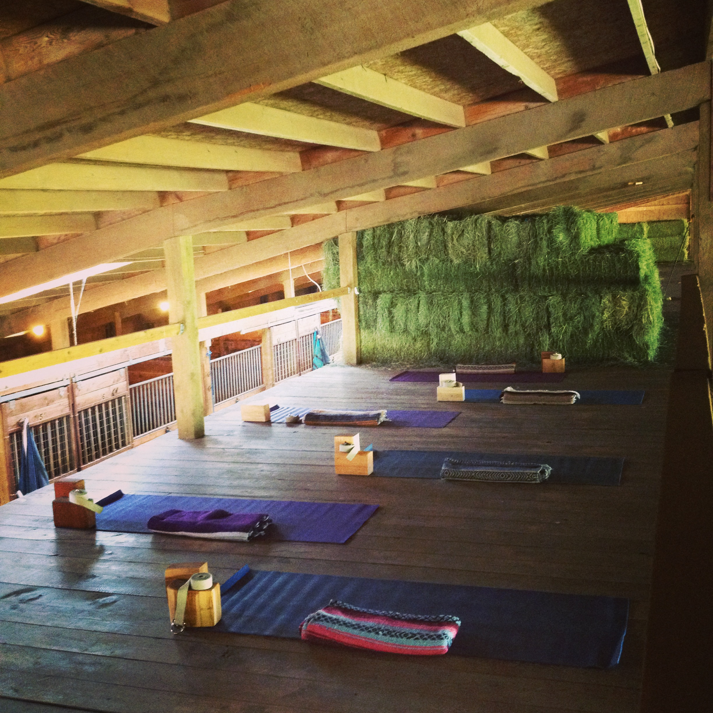 Hayloft Yoga ~ Your Mat is Waiting!