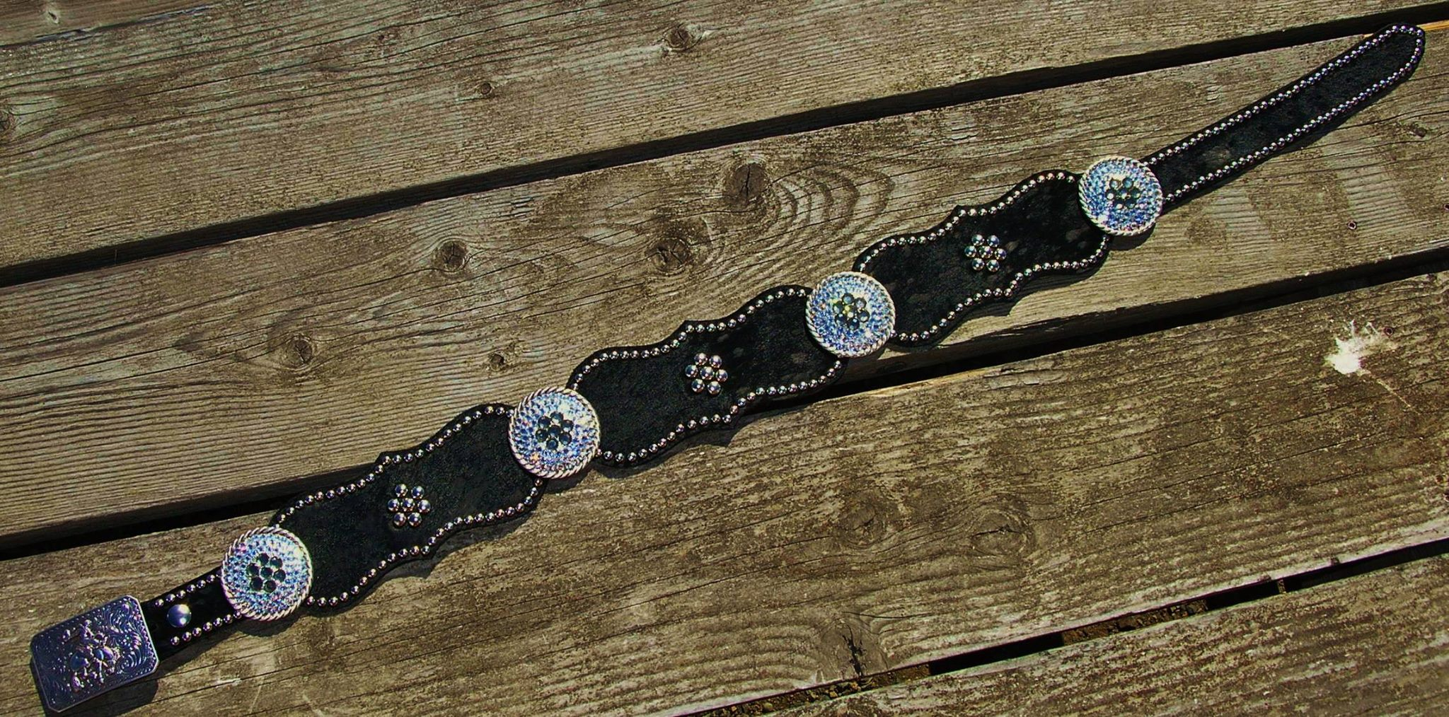 This is the belt that was donated to the Spirit Therapeutic Riding Program fundraiser Saturday night! The value is $350.