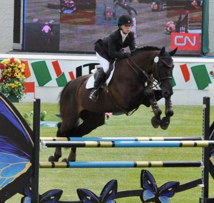 Aubrey Roth and her Belgian Warmblood, Nahab at Spruce Meadows