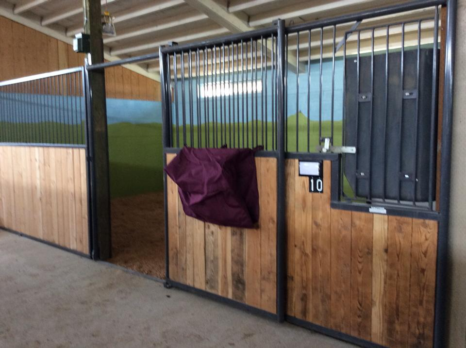 14X24 foaling stall, stallion stall or recovery stall, will have turn out.