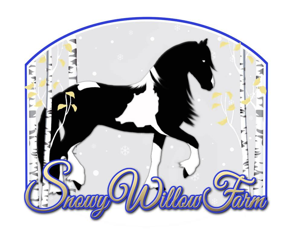 How fun is this logo!? A big thank you to Heather Thomas for trusting Mighty Pine Designs with your new farm logo, Snowy Willow Farm!! Your horse is beautiful! We're so happy you get to see him in your logo too!