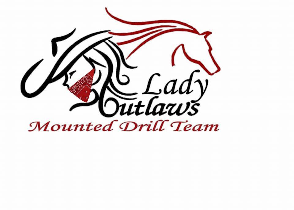 The Lady Outlaws Mounted Drill Team's New Logo. Come join us for some Fun and Adventure in Vancouver, Washington at the Saddle club in Vancouver, WA.