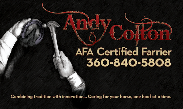 Andy Colton Horseshoeing offers 15 years of experience in the equine industry.   Contact us today to chat about your horseshoeing needs.