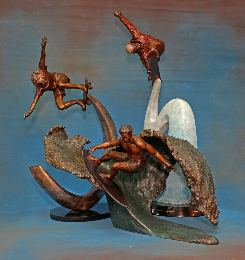 My Trilogy- Bronze Sculptures- each aproximately 26″H x 16″L x 10″W