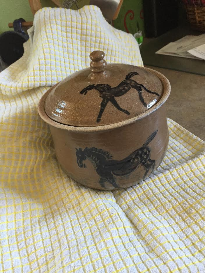 Stoneware Covered Dish