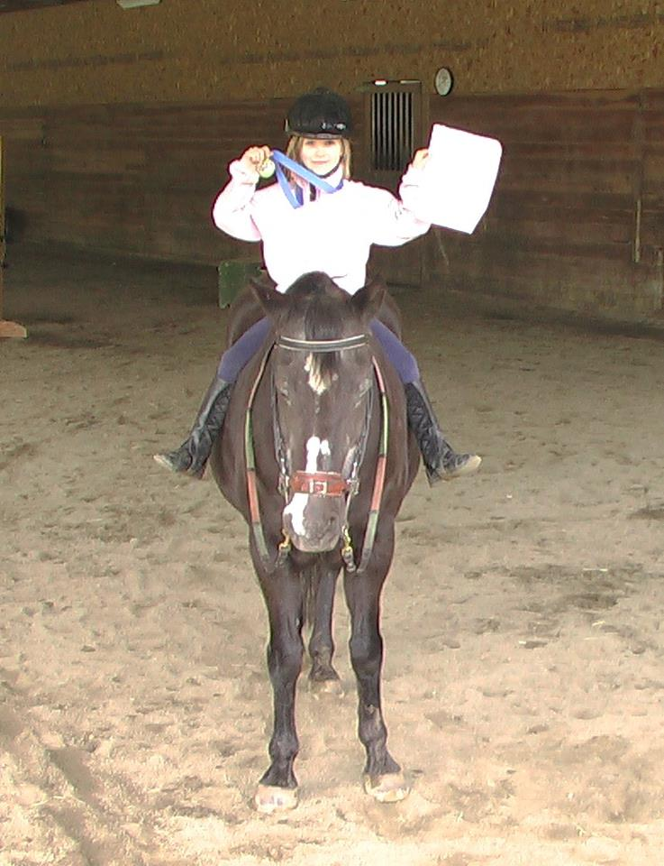 Kamryn Nenau earned her first Horsemasters of Hissy Fit Farm medal. Each level has 15 to 22 horsemanship goals that must be met before advancing to the next level. It's a big accomplishment. Congratulations Kamryn!