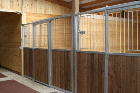 Big, roomy, well-bedded stalls with lots of natural light.