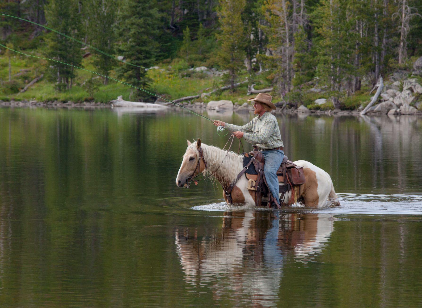 Fly-Fishing Horseback. A questionable idea. Check the blog