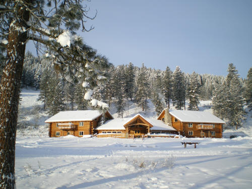 'The Lodge' in the winter of 2009