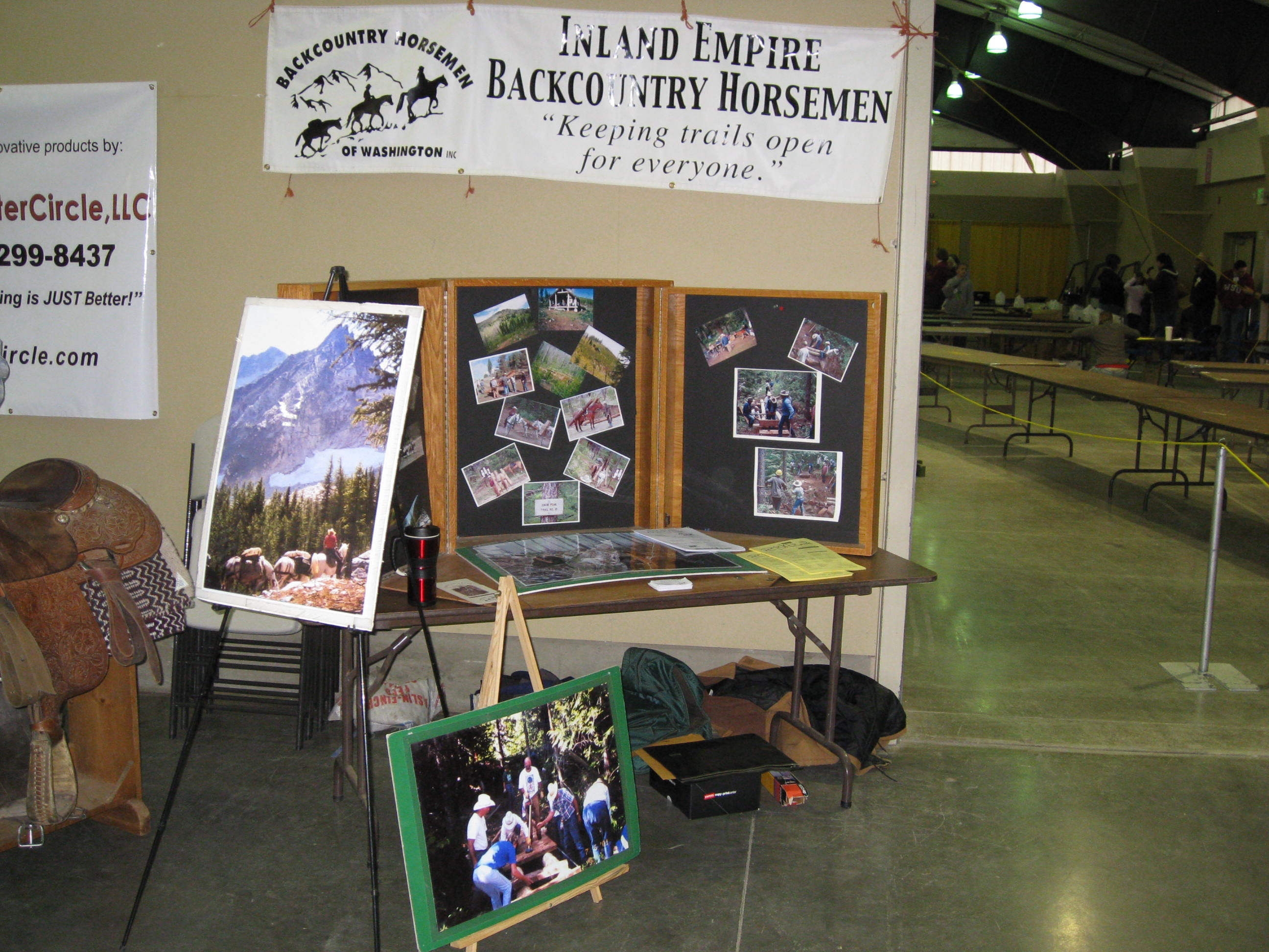 Chapter Booth at a 4-H Tack Sale