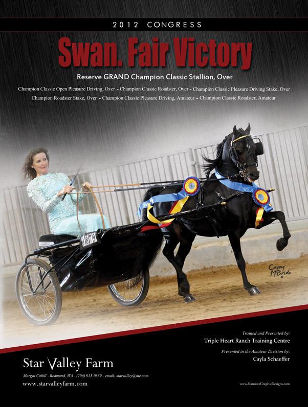Swan.Fair Victory Margot Cahill of Star Valley Farm