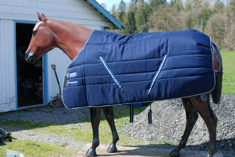 no. 44 – 72″ Blue/white/blue Rambo Rug Stable Blanket. Brand New! $120