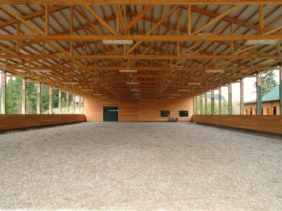 An equestrian arena we built.  Spane Buildings has been recognized as the region's most regarded arena builder, equestrian facility builder and dressage arena builder for nearly 70 years.