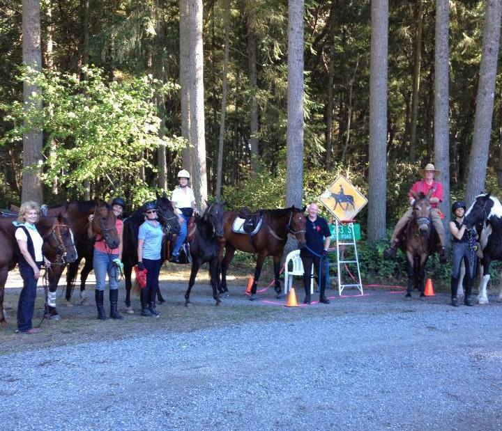 Congratulations to the horses, mule and riders on the completion of our trail