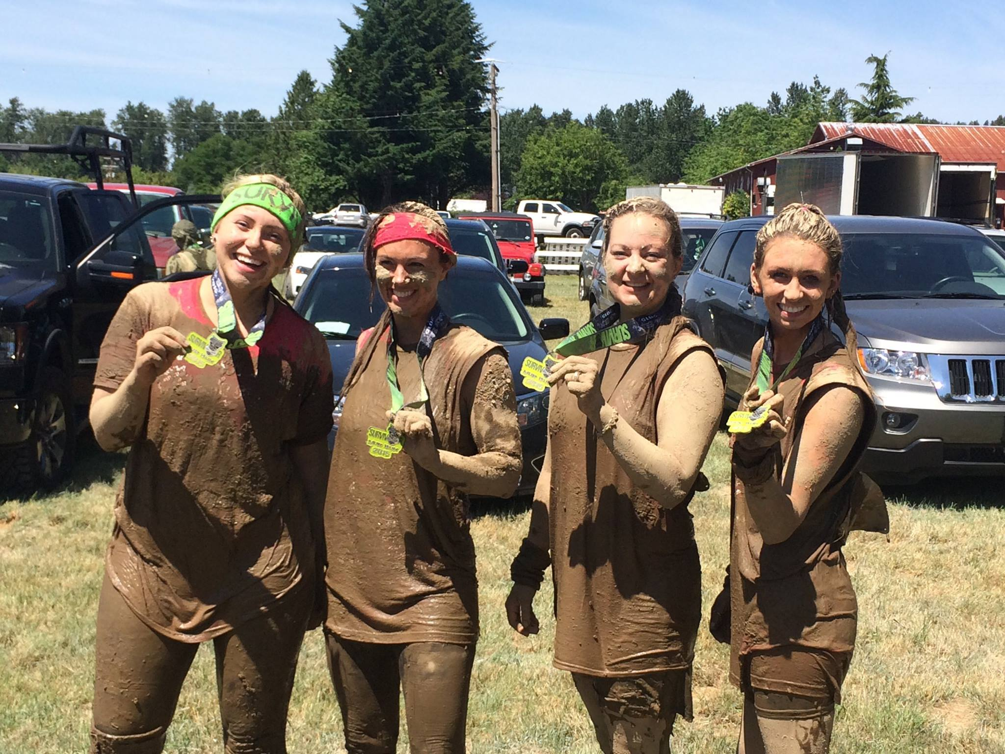 A big kudos to Shelbey, Dr. Brittany Davis, Jamie and Abby for completing the Seattle Survivor Mud Run yesterday! Now, can you tell who is who through all the mud?