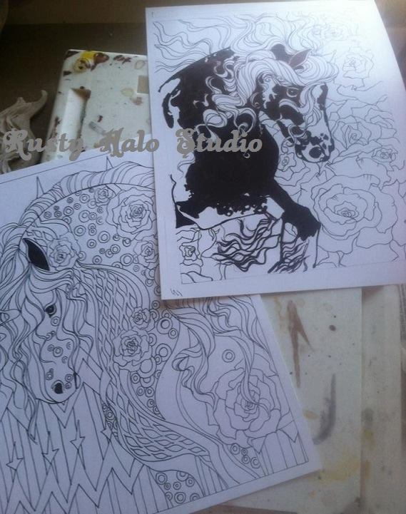 Equine Coloring Book – Spiral binding makes coloring a breeze! no fighting with laying the book flat! 40 pages of fun!!!! 8.5 x 11 in dimension.