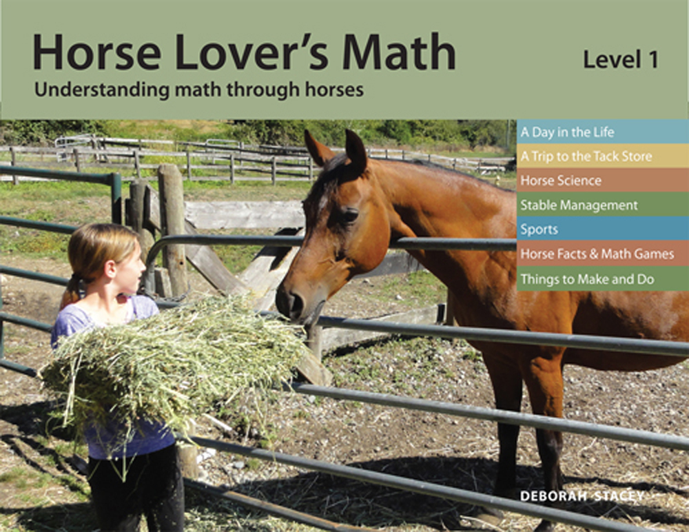 Level 1 workbook has over 160 pages.  The horse information in these workbooks is of interest to all horse lovers, no matter what their age.
