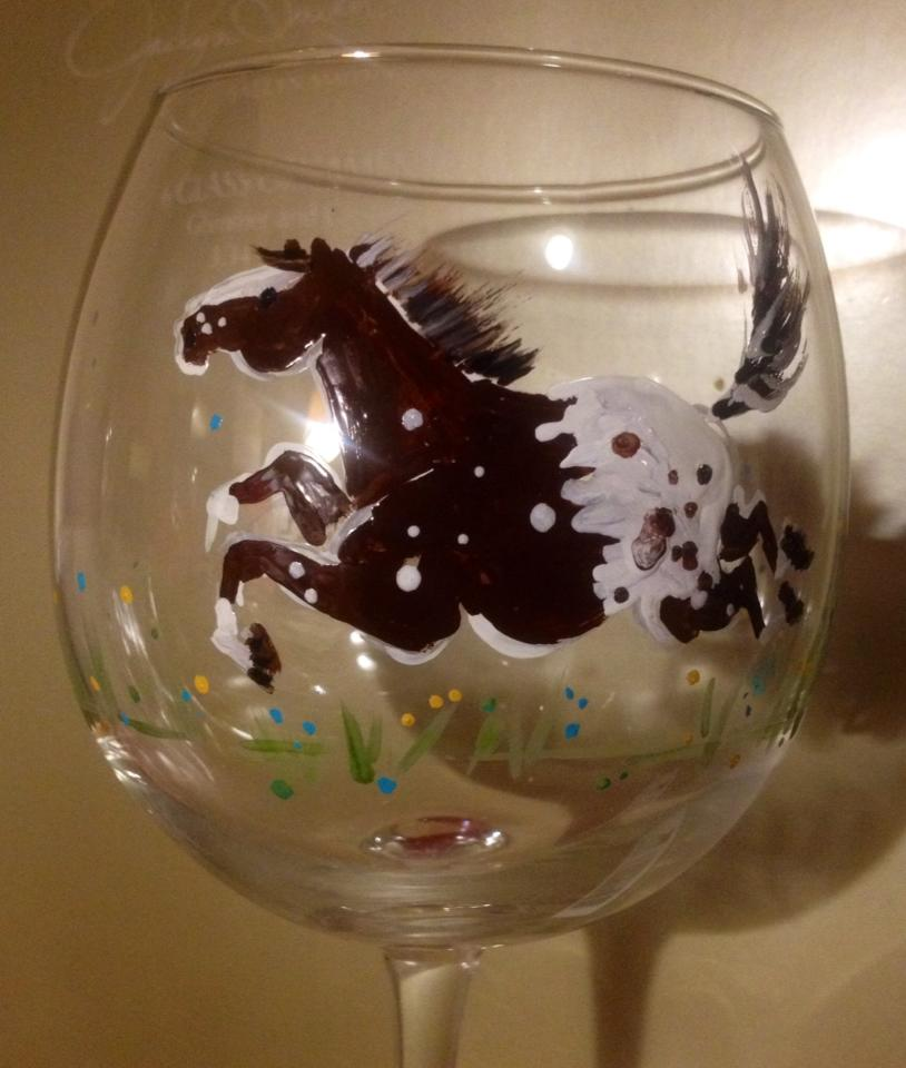 Send us your horse's photo(s) for a customized glass(s) and watch your herd grow.