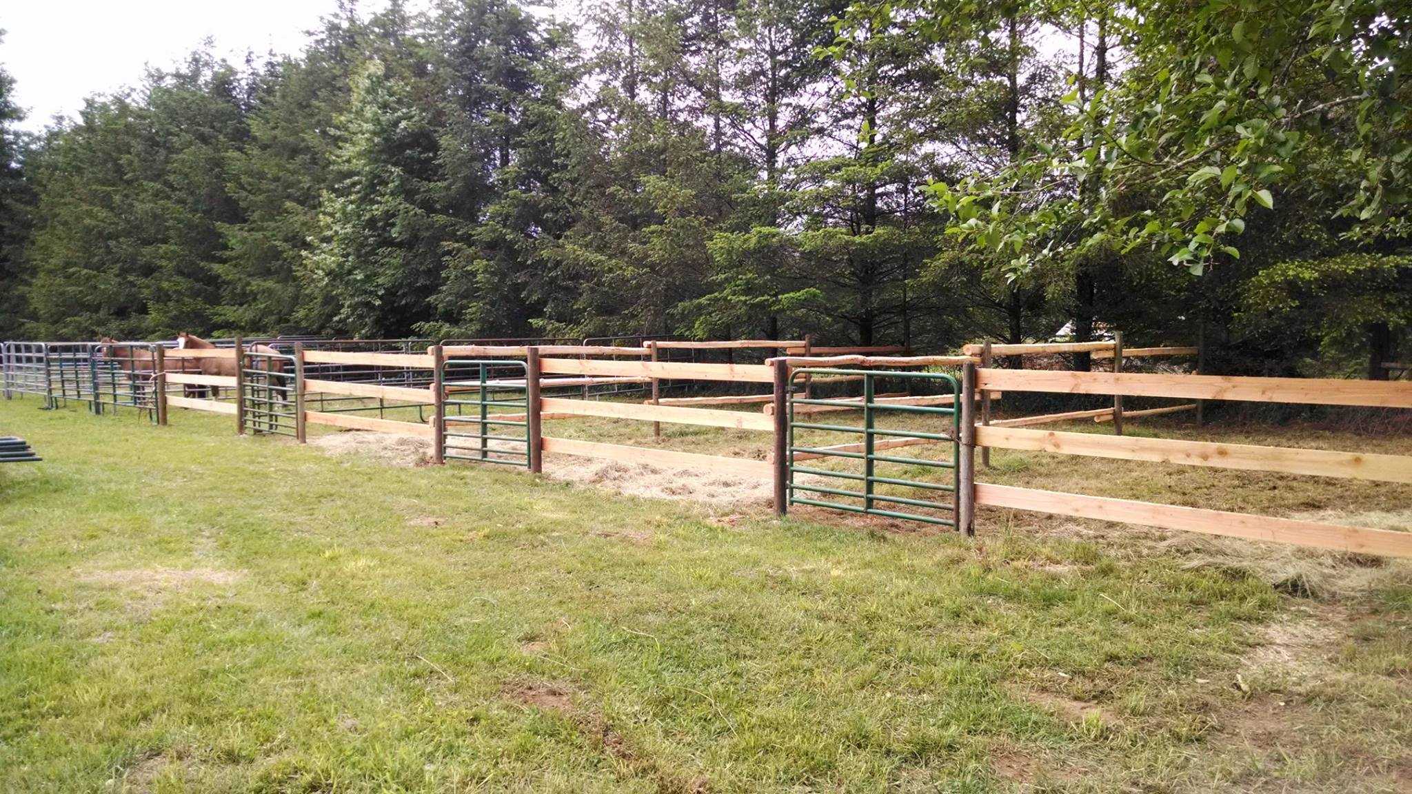 The new paddocks for Mossyrock members.