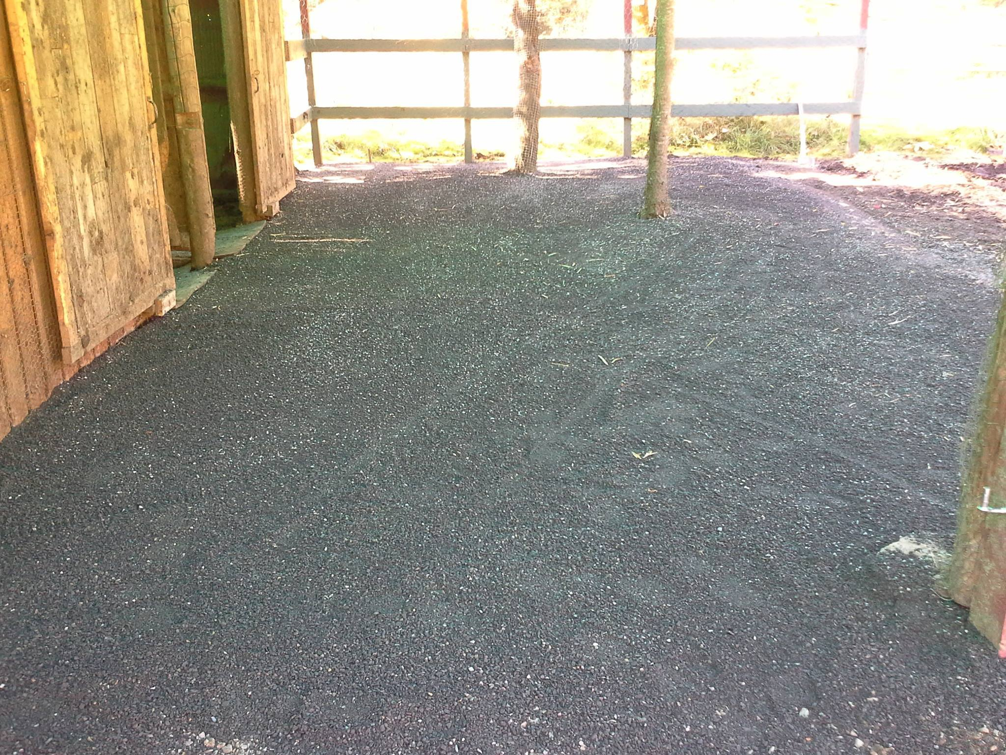 After installation the paddock is transformed.  Giving your horse a healthier environment and less clean up for you.  See our website and Facebook page for more transformations, along with several YouTube videos.