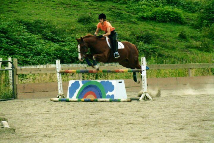 """""""In riding a horse we borrow freedom""""  – Helen Thomson  (As a teenager during my jumping days)"""