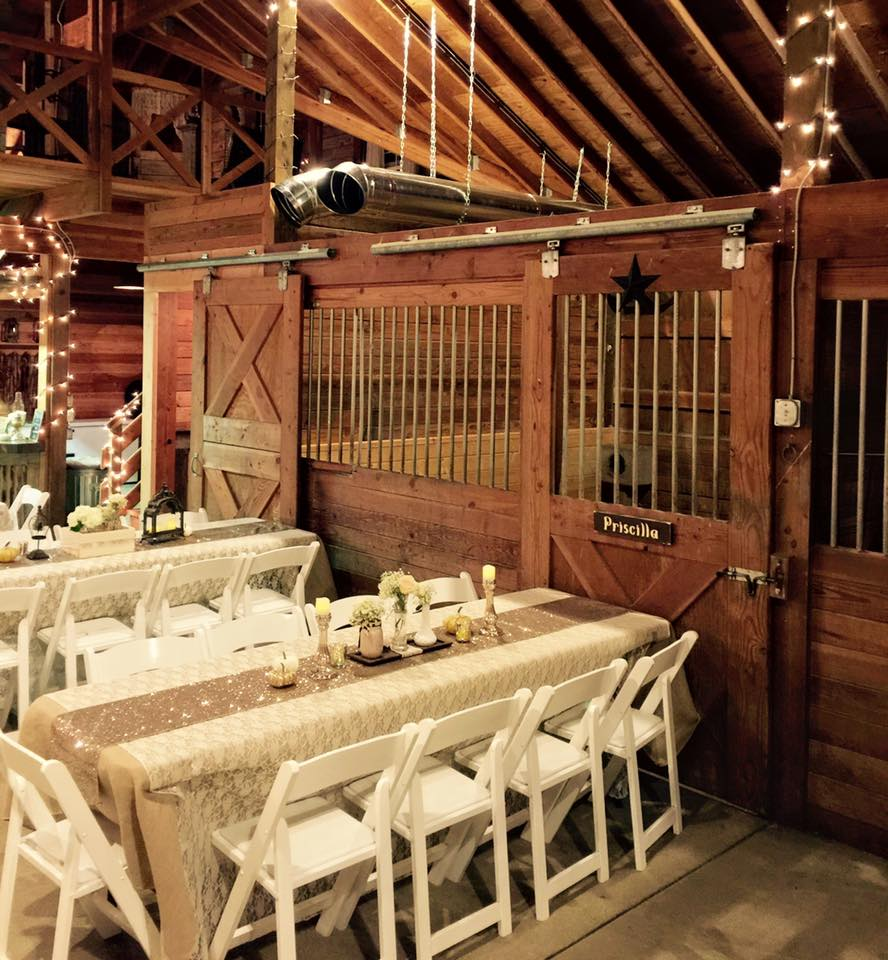 Winter weddings in the barn with the comfort of heat.