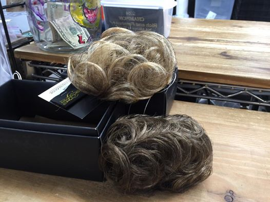 Do you have short hair and need a bun when you show your horse? The Hat Lady has buns. Easy to install, comes in all colors.  Looking for assistance with your show hair… stop in for a style and a smile!