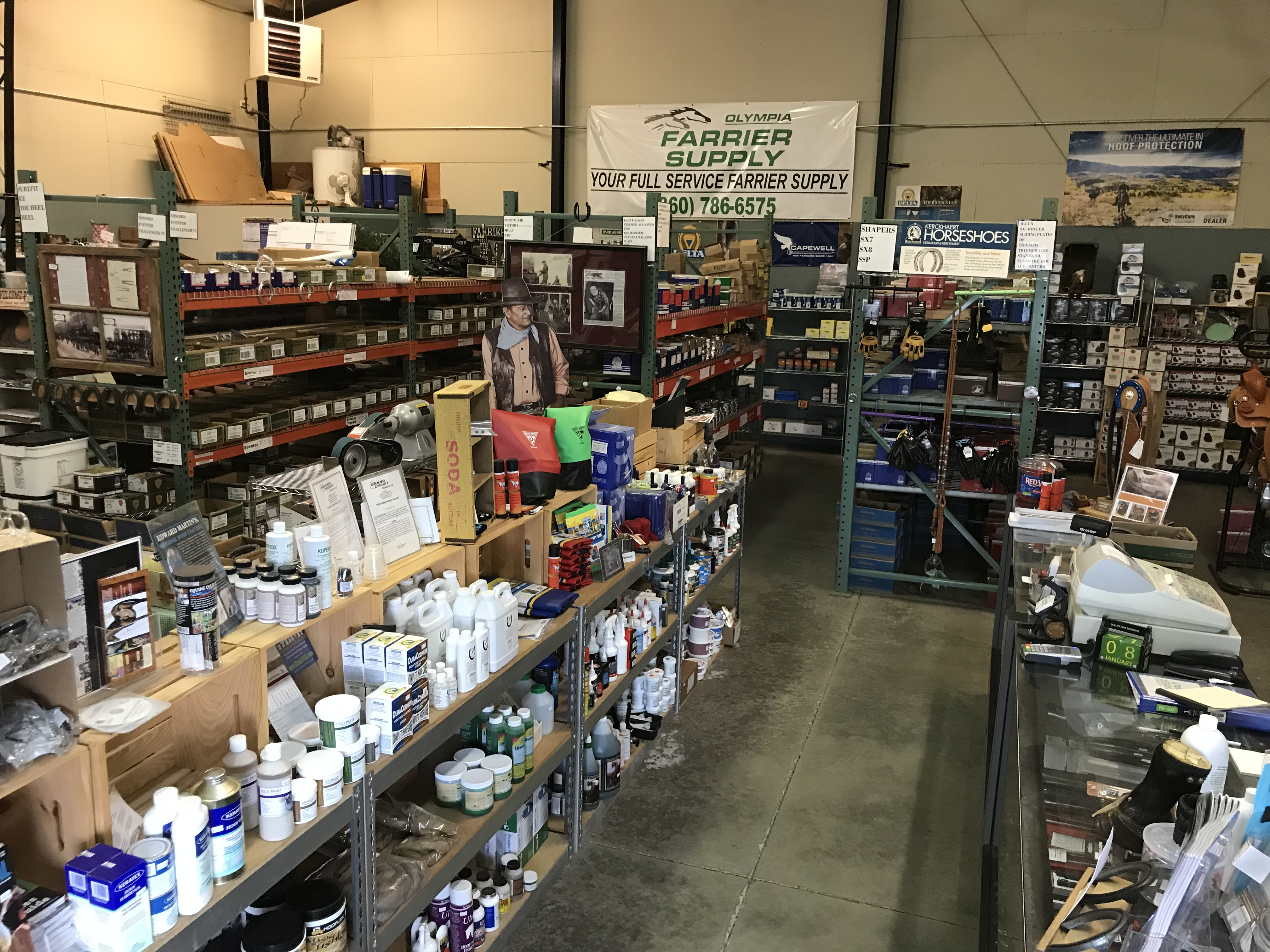 We carry what your horses feet need. Call or come in if you need help finding something.