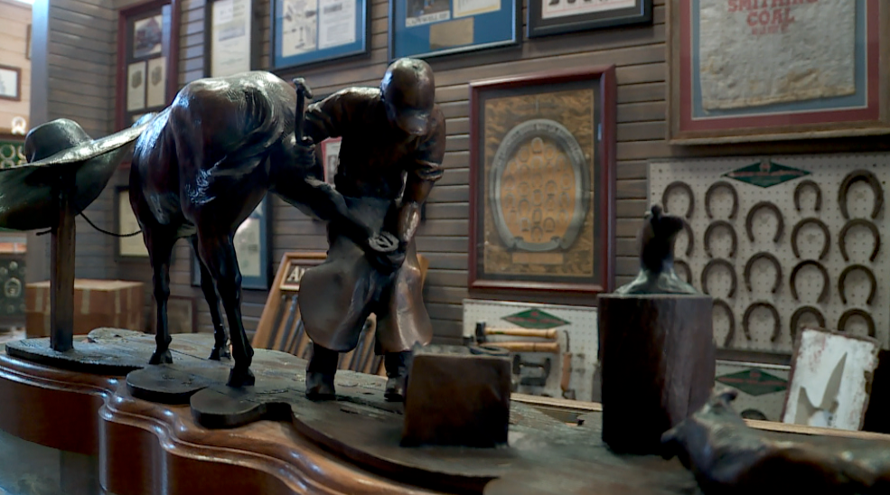 There are literally thousands of items collected and displayed by Legendary Farrier and Hall of Fame Horseshoer Lee Liles.
